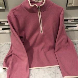 Izod Vintage Pink / Purple Zip Up Fleece